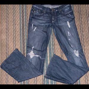 Rock & Republic Distressed Bootcut Jeans Size 27